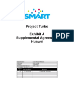 Smart Project Turbo Exhibit j Supplemental Agreement - Vendor Huawei - 14-07-15-Ver3a