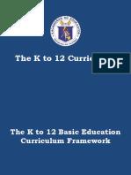 k to 12 curriculum