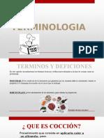 Cocina  Presentacion Terminologia