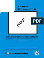 Lla006 General Equipment Lists