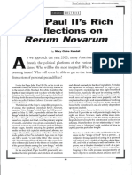 JP II's Rich Reflections on Rerum Novarum.12-99