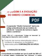 Direito Comercial I - Ponto 1