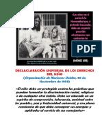 Declaclaración Universal de Los Derechos Del Niño