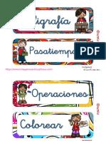 Tarjetas Para Las Bandejas de Actividades PDF
