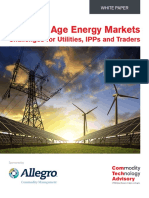 New Age Energy Markets - Challenges for Utilities, IPPs and Traders