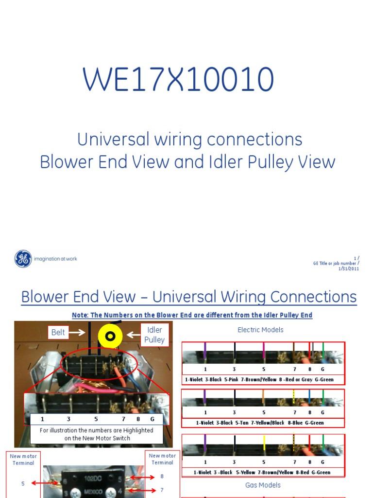 Universal Ge Dryer Motor Wiring - Wiring Diagram Img on