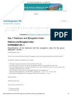 Exp 1 Flakiness and Elongation Index - Civil Engineers PK