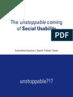Social Usability @ WUD 2009-11-12