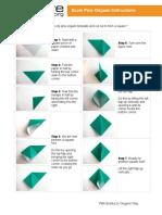 Origami Tree Instructions