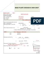 Design of Base Plate as per IS800