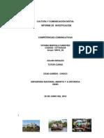 Informe de Investigación identidad cultural Municipio de Quibdó, Chocó