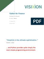 VX Python for Finance EuroScipy 2012 Y Hilpisch