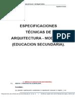 Especificaciones Tecnicas de Arquitectura - Modulo III (Educacion Secundaria)