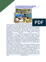 Auxiliares de Educación Inicial No Deben Asumir Practica Pedagogica Docente