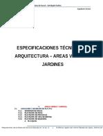 Especificaciones Tecnicas de Arquitectura - Areas Verdes y Jardines