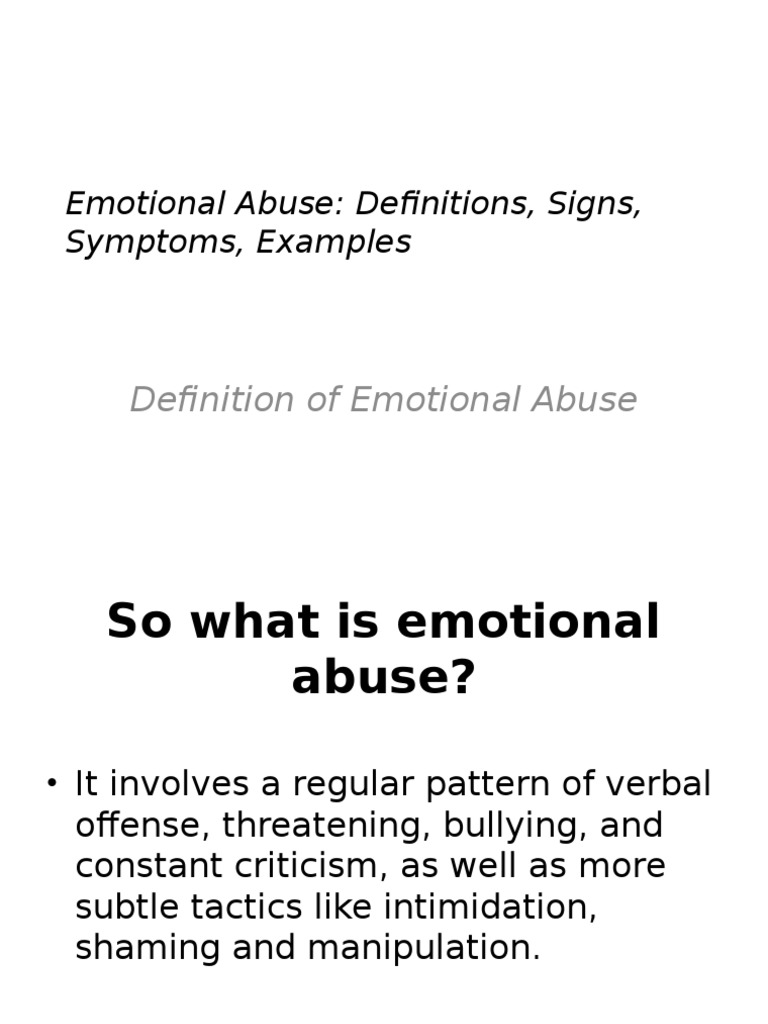 emotional abuse | psychological abuse | psychological trauma