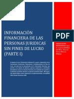Información Financiera de las Personas Jurídicas Sin Fines de Lucro