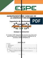 El modelo CDM integrado del proceso de producción