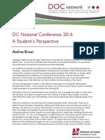 DC Conf Experience 2016 Andrea Braun