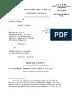 Worley v. Board of County, 10th Cir. (2002)