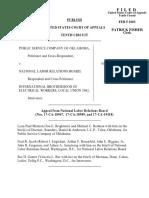 Public Service Co. v. NLRB, 318 F.3d 1173, 10th Cir. (2003)