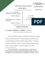 Union Pacific Rail v. Dolese Bros Co, 10th Cir. (2005)