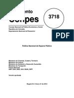 CONPES 3718 de 2012 - Política Nacional de Espacio Público
