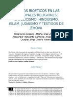 Dilemas Bioeticos en Las Principales Religiones