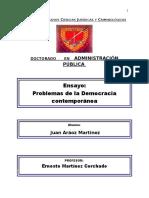 ENSAYO PROBLEMAS DE LA DEMOCRACIA CONTEMPORÁNEA.docx