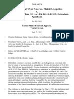 United States v. Lorenzo Lawrence Jose De La Luz Gallegos, 738 F.2d 378, 10th Cir. (1984)