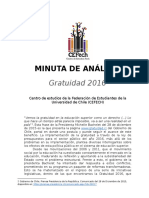Minuta de Analisis Gratuidad 2016 Version Final