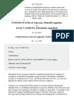 United States v. Javiar Vazquez, 977 F.2d 597, 10th Cir. (1992)