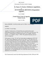 John L.D. Frazier, Nancy F. Frazier v. Commissioner of Internal Revenue, 90 F.3d 437, 10th Cir. (1996)
