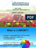 1. Report Writing