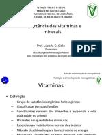 Aula 06 Vitaminas e Minerais