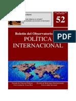 Boletín del Observatorio de la Política Exterior. Universidad de Costa Rica.