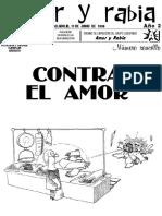 """Revista Amor y Rabia Nr. 16 """"Contra el amor"""""""