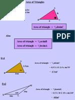 12.4 Area of Non Right Angled Triangles