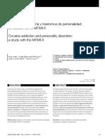 Adicción a La Cocaína y Trastornos de Personalidad-estudio Con MCMI-II