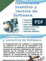 Mantenimiento preventivo y correctivo de softwre