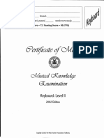 Musical Examination 2002