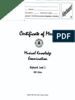 Musical Examination 2005