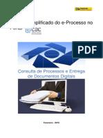 Manual Simplificado E-Processo - Fevereiro 2016