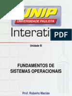 Resumo - Fudamentos de Sistema Operacionais Unid 3