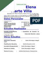 Currículum Vitae Elena Marte Villa