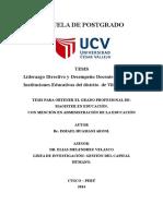 Liderazgo Directivo y Desempeño Docente en Aula en Instituciones Educativas Del Distrito de Vilcabamba