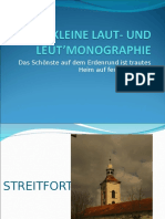Kleine Laut- Und Leut'Monographieneu