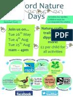 flatford nature days poster