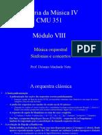 Modulo VII (Atual) - Sinfonia e Concertos