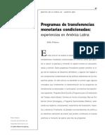programa de transferencias monetarias condicionadas experiencias en américa latina